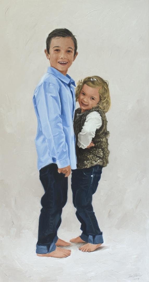 Kinderportret portret schilderij kind kinderportretten bo bakker - Schilderij tienerkamer jongen ...