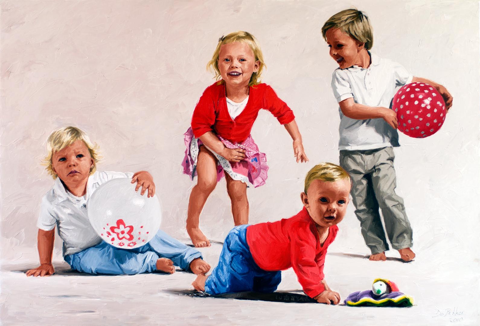 Portretschilderij portretschilderijen van portretschilder bo bakker - Schilderen kind jongen ...