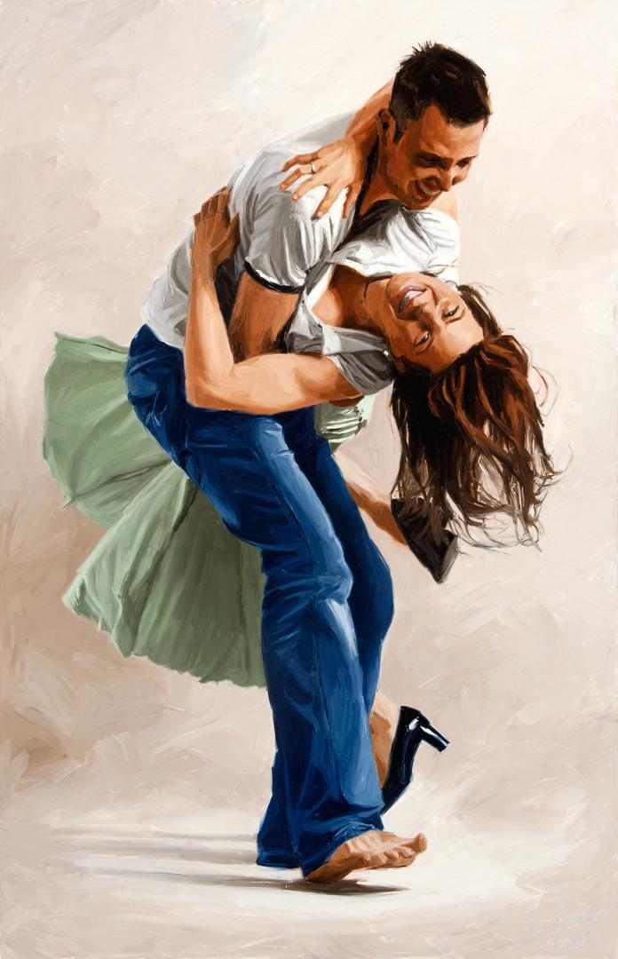 schilderij man vrouw
